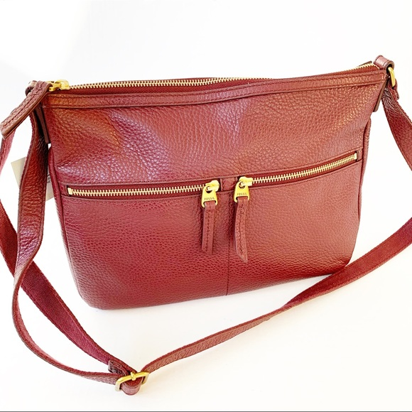 NEW Fossil large Elise cross-body bag Cabernet. NWT c2dde06cc7589